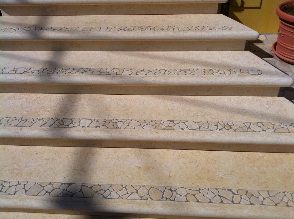 Top cucina ceramica marmo egiziano - Marmo per scale ...